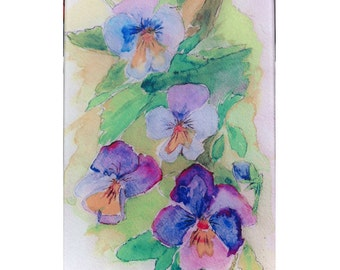 Pansies glass cutting board, pansy flower cutting board, pansy gift, pansy glass, pansy flowers,flower gift,watercolor pansies, pansy trivet