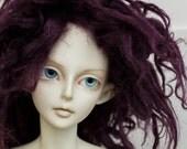 BJD Wig Eggplant faux fur mohair doll wig SIZE CHOICE