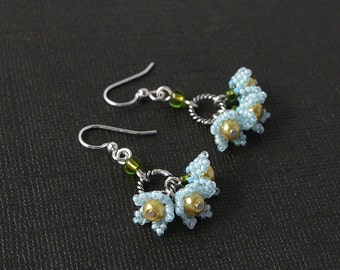 Forget me not spring earrings