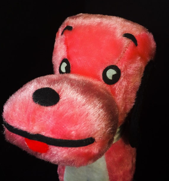 Carnival Toy Box Pink: Vintage Carnival Pink Snoopy DOG Plush By JanetsVintagePlanet