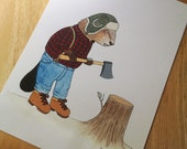 Creature Discomforts - The Lumberjack - 9x12 Limited Edition Archival Print