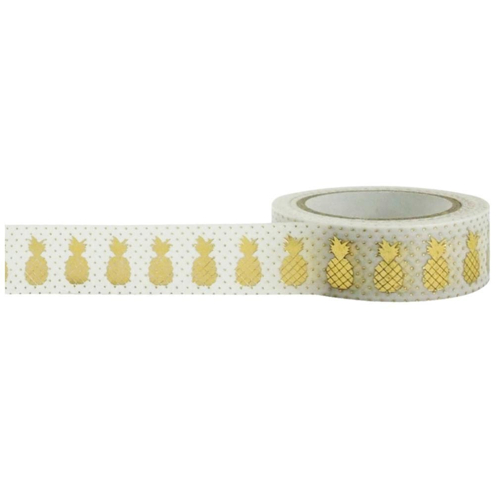 Pineapple decorative tape little b foil tape gold for Decoration tape