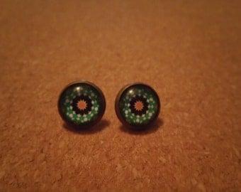 Green/Orange Studs