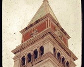 SALE: Merchant of Venice - Campanile di San Marco (Italy travel photography, beige vintage dreamy clock tower angel Gabriel historical TTV)