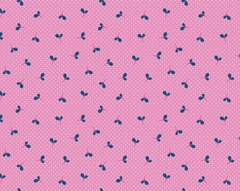 SALE Pink Wildflower Spot Fabric by Melly & Me for Riley Blake Designs WILDFLOWER MEADOW 1 Yard