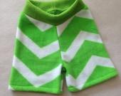 Fleece Shorties --- Chevron Anti Pill Fleece Shorties --- Diaper Cover