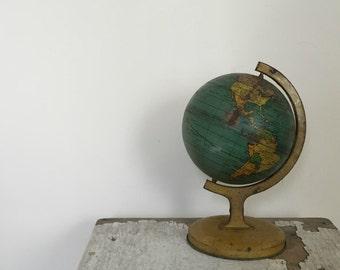 SALE  vintage 1920's J Chein toy metal globe