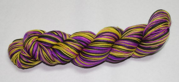 Pitch Perfect Self Striping Hand Dyed Sock Yarn