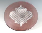 Fused Glass Plate Purple White Handcrafted Dish Art Glass Moroccan