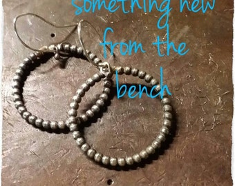 Made to Order Balled Sterling Hoops