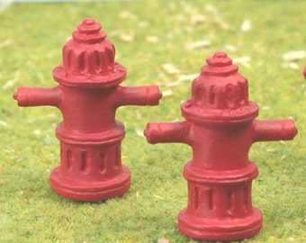 Fire Hydrants - Full detailed and painted! G Scale - Set of 3