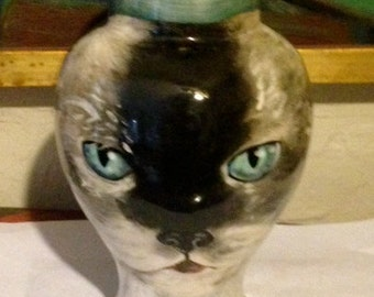 Custom kitty PET URN for dogs and cats SMALL Day of the Dead hand painted