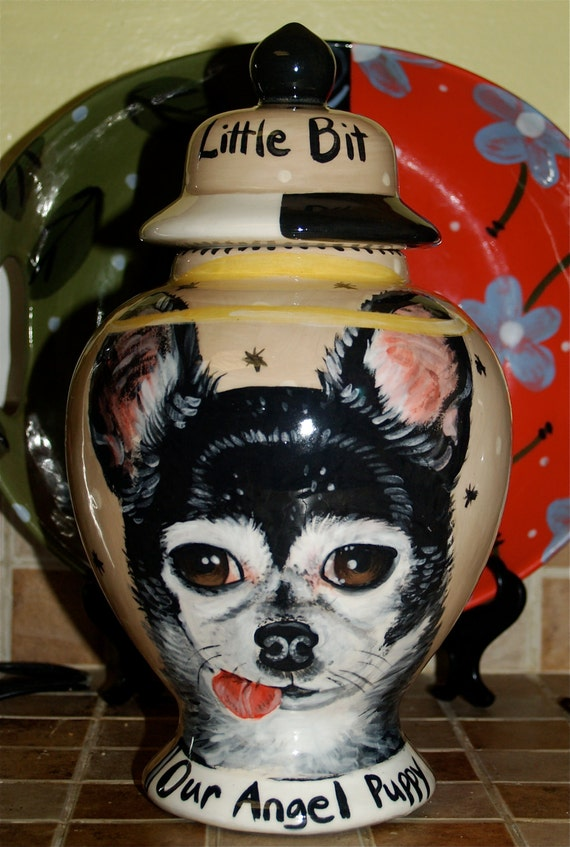Custom chihuahua URN for dogs and cats ashes  MEDIUM sized for pet ashes