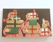 Vintage Christmas Card Mid Century Unused Hallmark