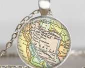 Persia Iran map necklace,Iran map pendant, Persia Iran map jewelry , map pendant jewelry,personalised gifts,souvenir gifts