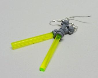 Yellow Light saber Earrngs