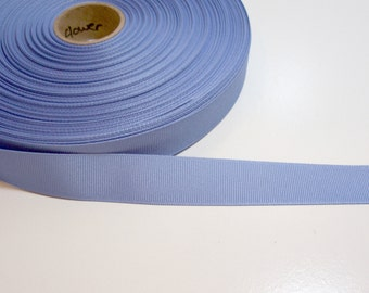 Blue Ribbon, Cornflower Blue Grosgrain Ribbon 7/8 inch wide x 10 Yards, SECOND QUALITY FLAWED