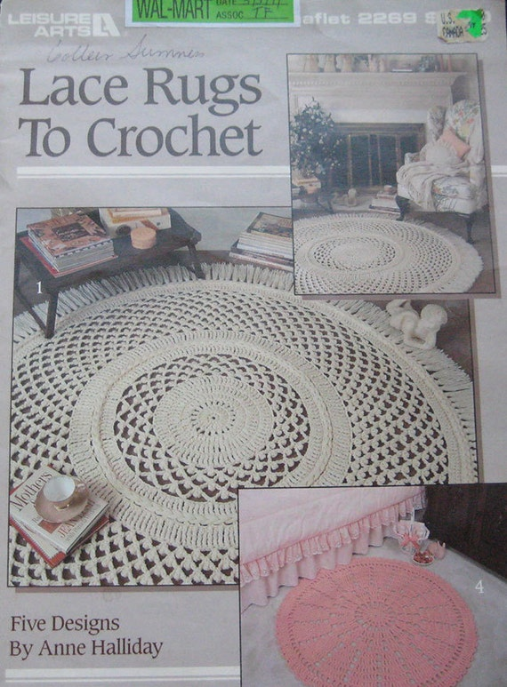 Crocheting Rugs Book : Lace Rugs To Crochet Pattern Book by TheHowlingHag on Etsy