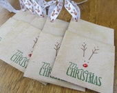 My Friend Rudy Christmas Gift Card Holders. Set of 4. Holiday. Winter. Joy. Gift Wrap.