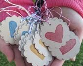 Custom Order for Hannah Spread a Little Love Set of 40 Valentine Tags Embellishment.