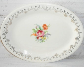 Large Antique Chippy Chic Platter,Large Country Chic Serving platter,Tableware Platter ! Cottage Chic Platter
