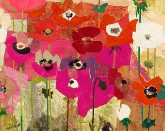 ANEMONES Mixed Media Collage No. 2