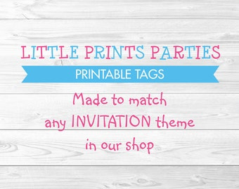 Printable Party Favor Tags Made to Match any invitation in shop