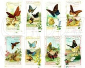 Shabby Chic Digital Collage sheet for scrapbook and cards Vintage Butterflies French DC773