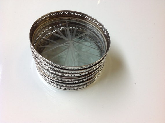 Sterling silver drink coasters - Smashing glass coasters ...
