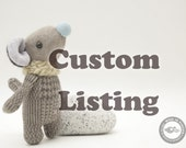 CUSTOM LISTING for ALICIA- mouse pocket friend 5 inches