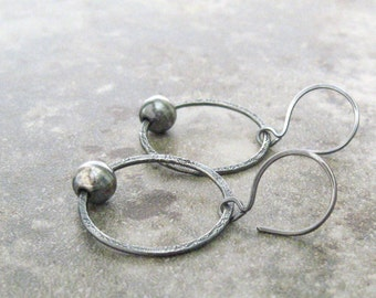 modern silver earrings, minimalist metalwork silver rings, fine and sterling silver earrings