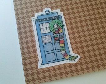 Brown Tardis Doctor Who greeting card