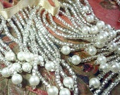 Vintage Beaded Fringe ~ Pearls and Crystal Beads