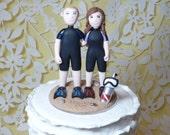 Scuba wedding cake topper