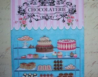 CUPCAKES - PATISSERIE, Pastries, French - Set of Notecards with envelopes - Click on All Photos - PCN 9909865