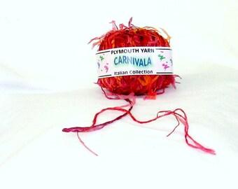 yarn, novelty yarn, Carnivala 640, Plymouth, C, destash