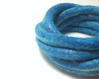Turquoise Felted Bracelet / Felted Bangles / Modern Cuff / Yoga / OOAK / from Twisted Felt Collection