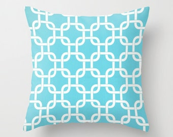 Turquoise Pillow Cover Nautical Pillow Cover Blue Pillow Cover 8 Size Choices