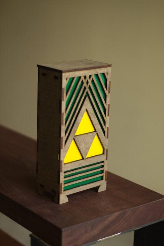 Zelda Triforce Nintendo table lamp
