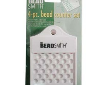 Supplies - Tools - Beadsmith 4-pc. Bead Counter Set - Counting and Sorting - SKU:501030