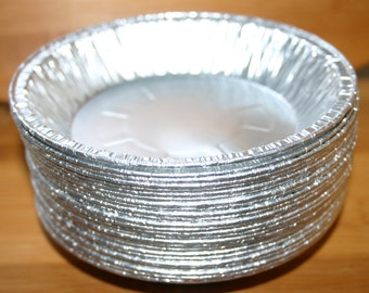 "Deep Dish 6"" Small Pie Pans, Small Foil Pie Pans, Holiday Pie Pans,  Baking Pie Pans,  Pot Pie Pans (25 ct)"