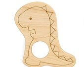 Wood Toy Dinosaur Teether, personalized wooden baby toy
