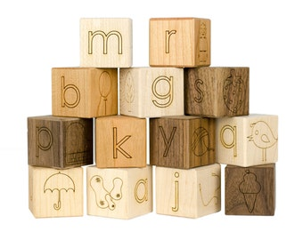 Alphabet Picture 13 Blocks Toy