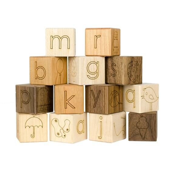 Alphabet Picture 13 Blocks Toy