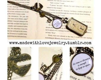 Time For Love -- Long Distance Relationship Real Working Double Watch Necklace