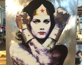 "Title: ""First Date"", Earth Girl Wonder Woman Lynda Carter on Metal"
