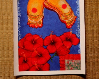 Goddess Lotus Feet CANVAS print