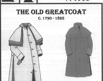 1790-1825 Greatcoat Pattern by Country Wives