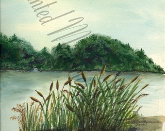 THE RIVER BANK Instant Download 8.5 X 11