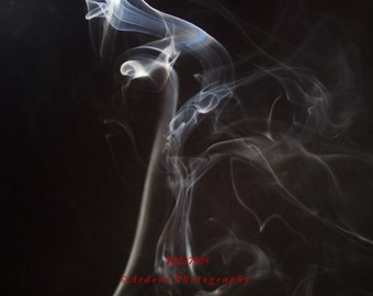 Abstract Surreal Smoke Photography Art Photograph Different Emotion Love Adore Black Blue Colors - The Lovers - Art Photography by Ardent